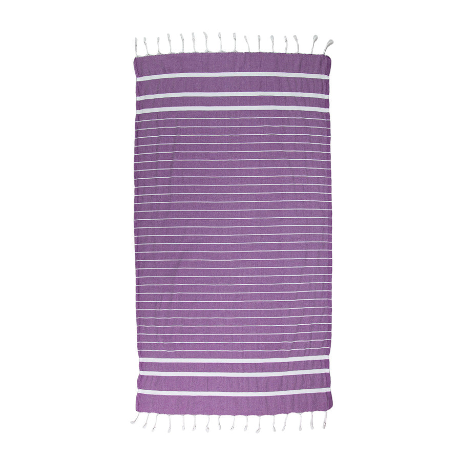 Dark Purple Thin Turkish Towel Tolu Australia Full