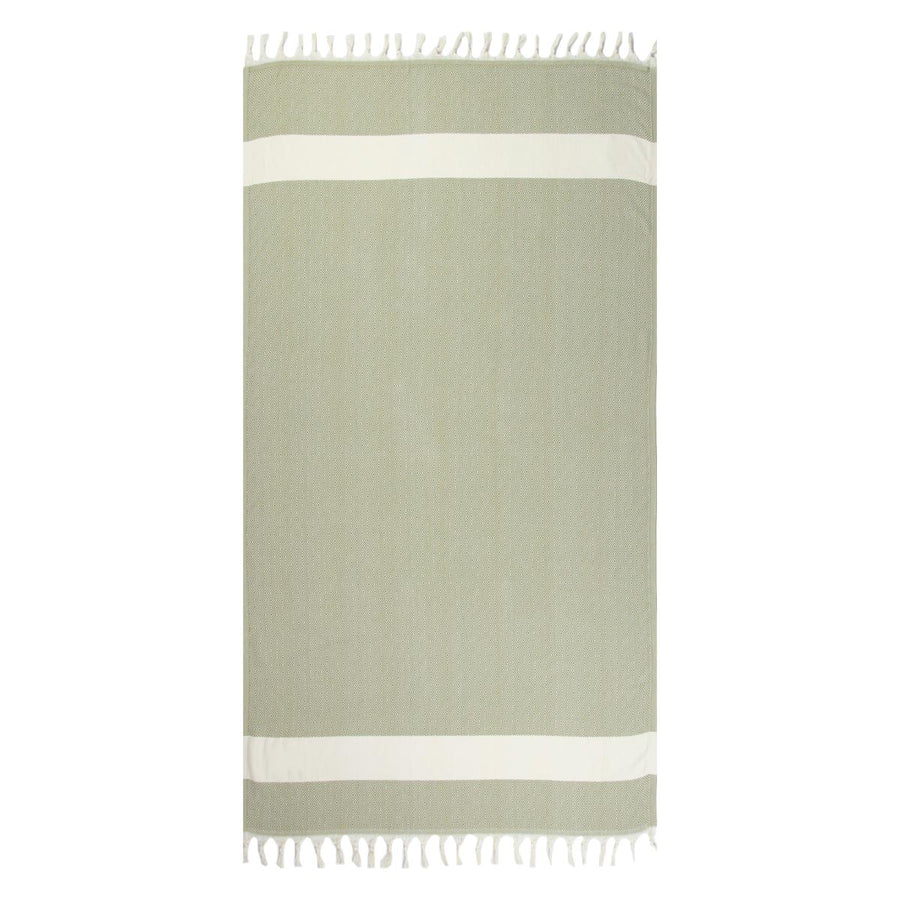 Dark green turkish towel diamond rolled Tolu Australia
