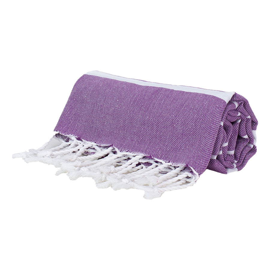 Dark Purple Thin Turkish Towel Tolu Australia Roll