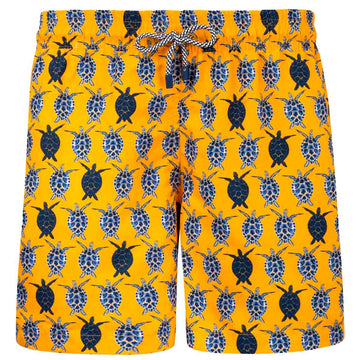 Orange Turtles men board shorts CARE1 Tolu Australia