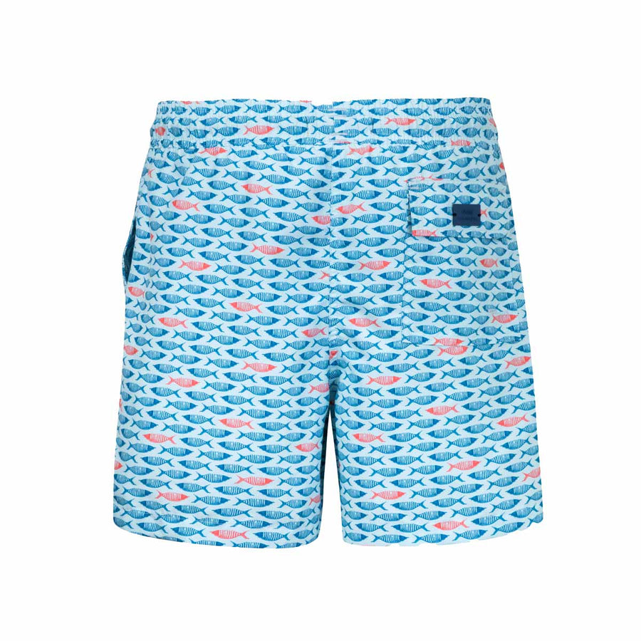Pale Blue Fishes kids boardshorts NEMO3