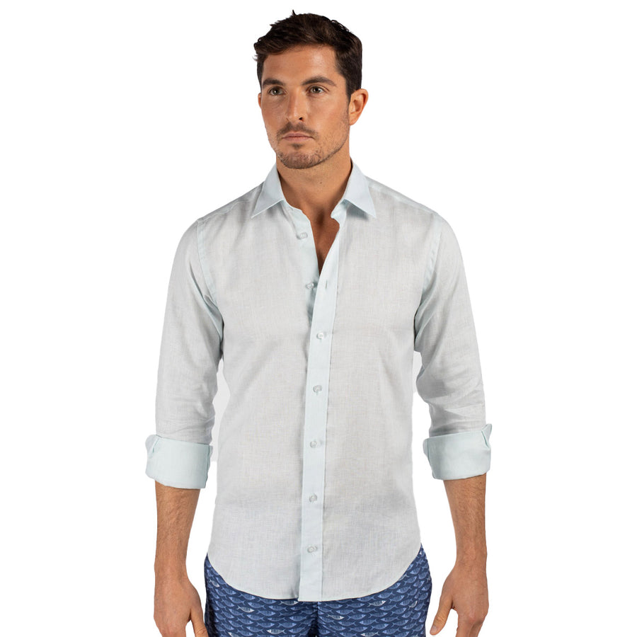 Pale Blue Linen shirt for men Tolu Australia