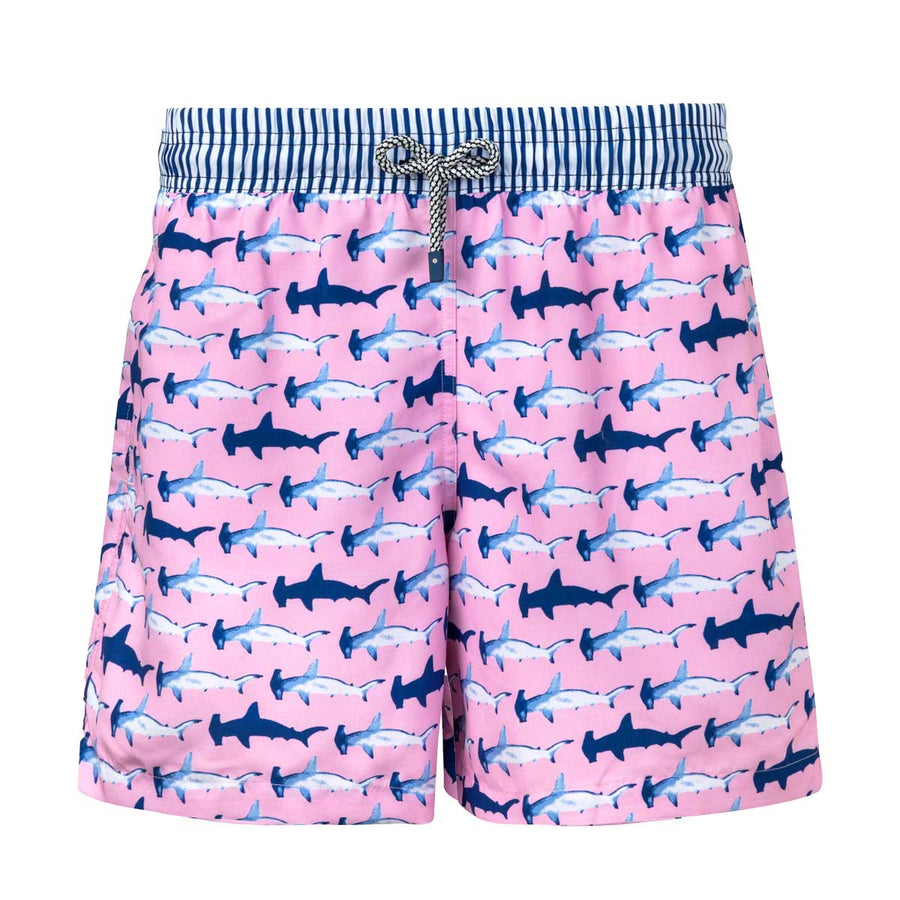 Pink Hammerhead Sharks Kids Board Shorts