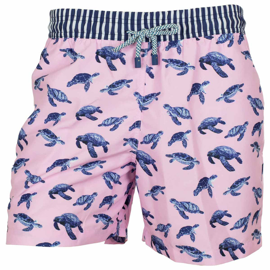 Pink turtles board shorts for men Tolu Australia TURT1
