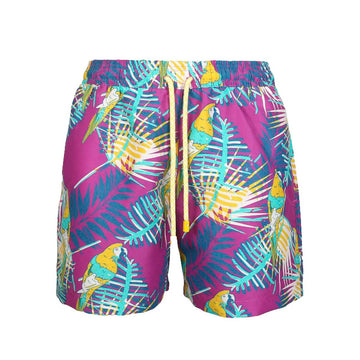Purple Macaws Kids Board Shorts Tolu Australia