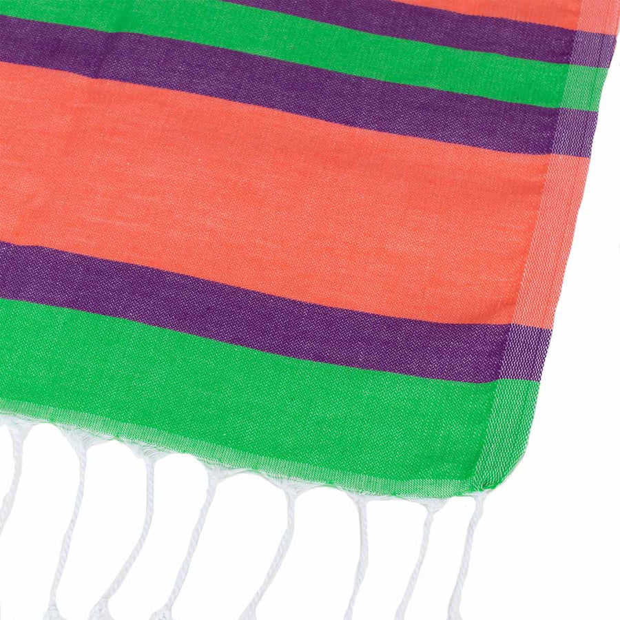 Rainbow Thin Turkish Towel tolu australia