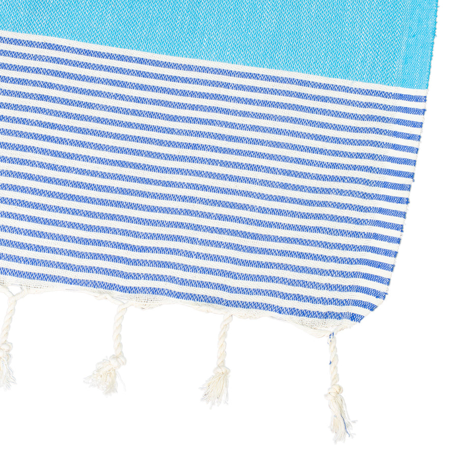 ky Blue Thin Turkish Towel Tolu Australia Corner
