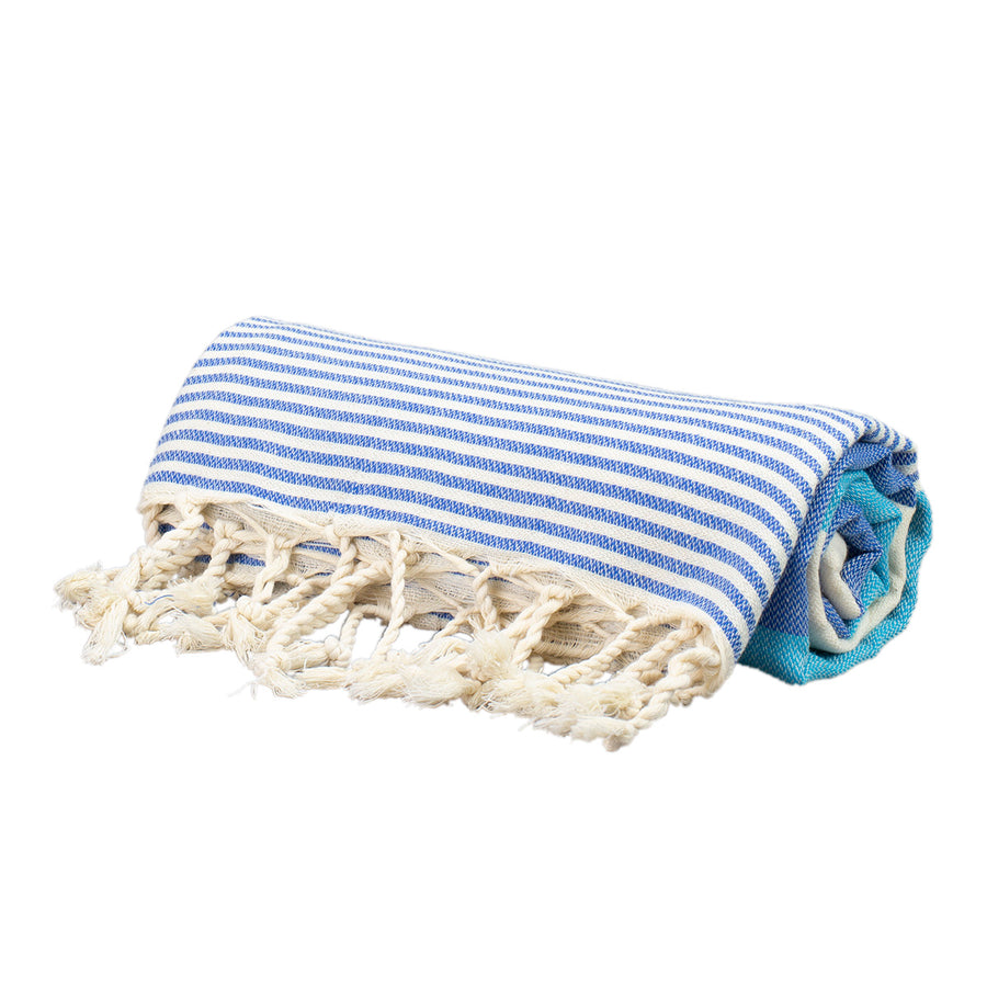 Sky Blue Thin Turkish Towel Tolu Australia Roll