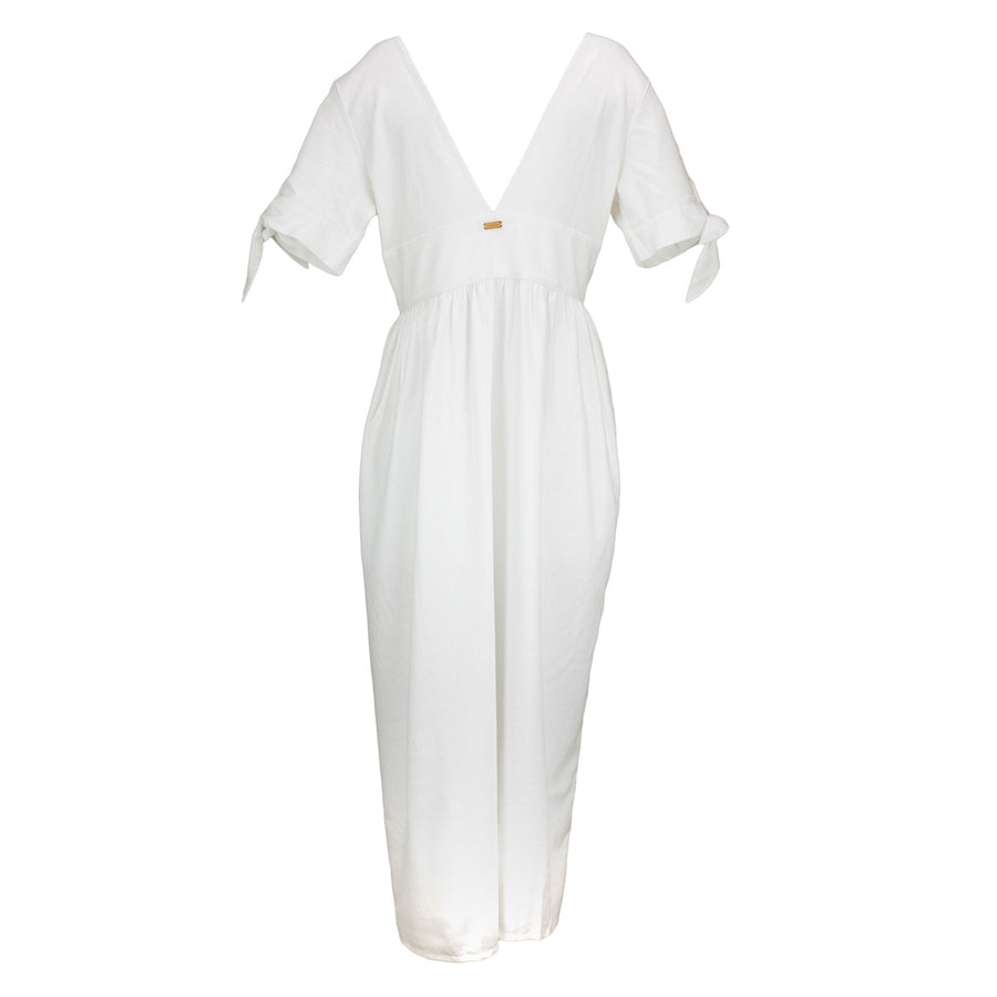 Buttoned Linen Dress Kaftan overswim for women tolu australia