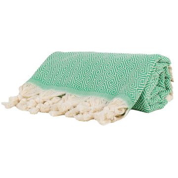 green Turkish towel diamond Tolu Australia