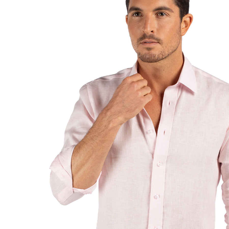 Light Pink Linen shirt for men Tolu Australia