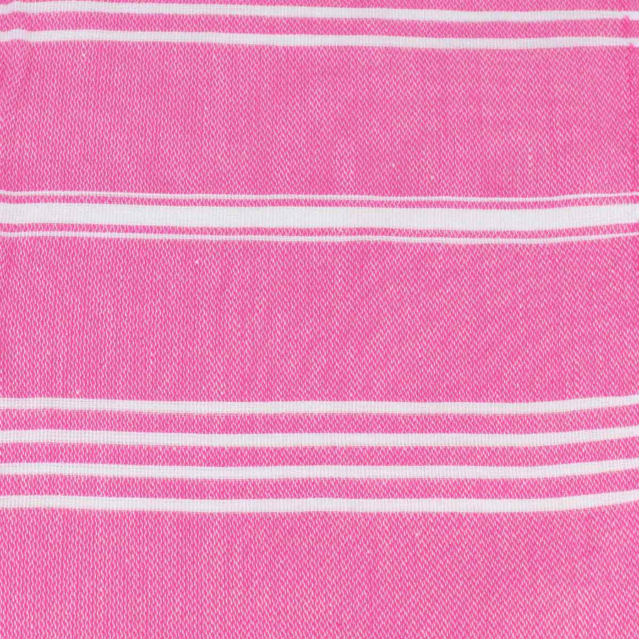 Pink and White Thin Turkish Towel tolu australia