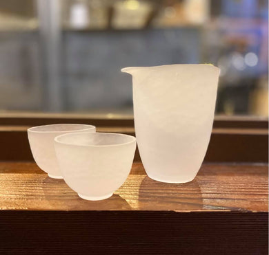 Sakeware set B (Frosted Glass)