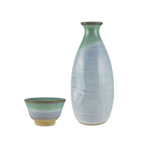 Sakeware set B (Blue and Green)
