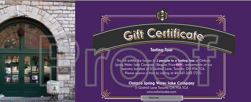 Gift Certificate - Tasting Tour