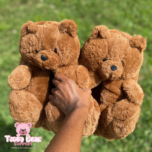 """COCOA BEAR"" Teddy Bear Slippers (ONE SIZE 5-11)"