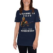 Load image into Gallery viewer, Pro Donald Trump Republican Iranian Solemani Short-Sleeve Unisex T-Shirt Back and Front..!!