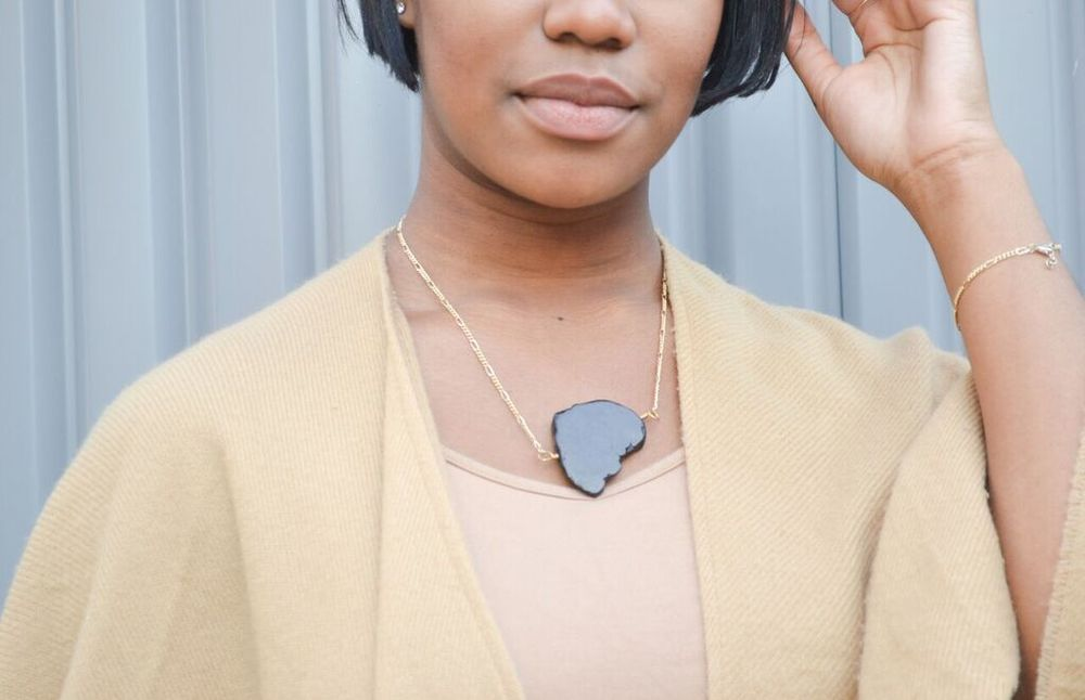 The Ashley Necklace in Magnesite