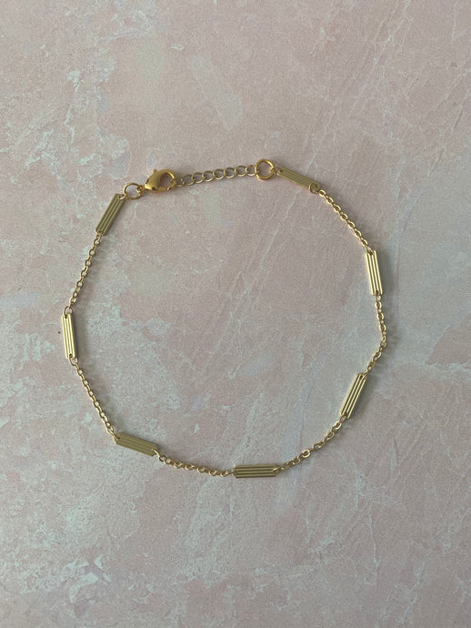 The Eboné Bar & Cable Chain Anklet