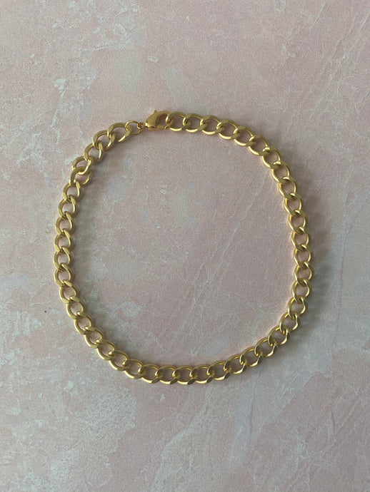 The Eboné Curb Chain Anklet