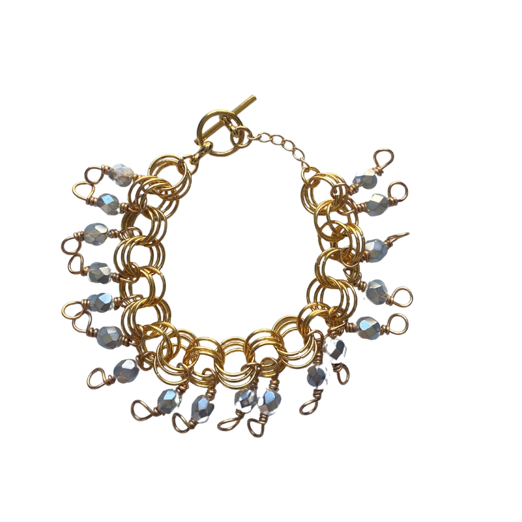 The Donna Bracelet in Metallic Silver