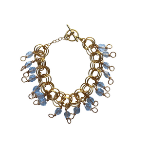The Donna Bracelet in Transparent Ice Blue