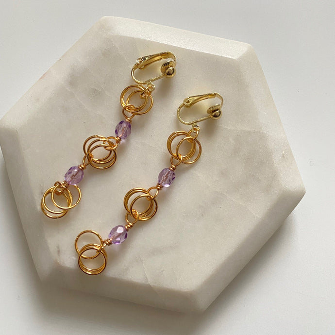 The Kiere Earring in Translucent Lilac