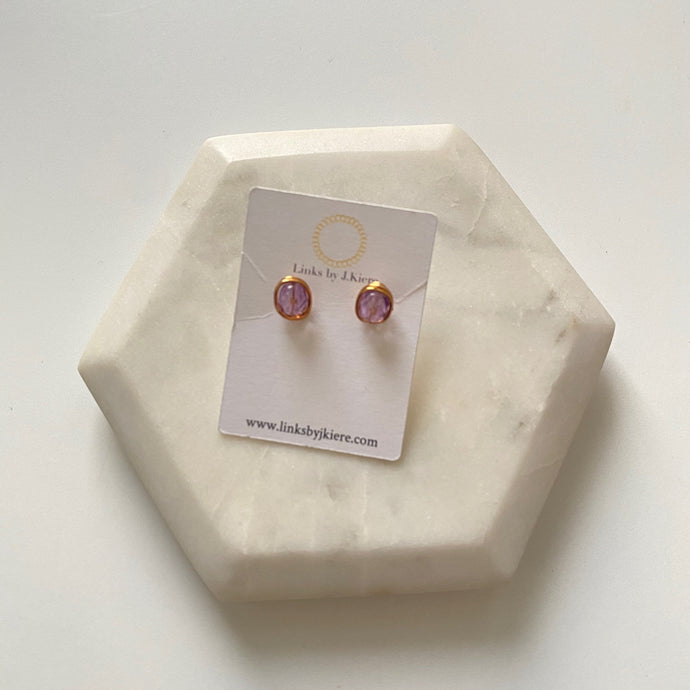 The Morgan Earring in Translucent Lilac