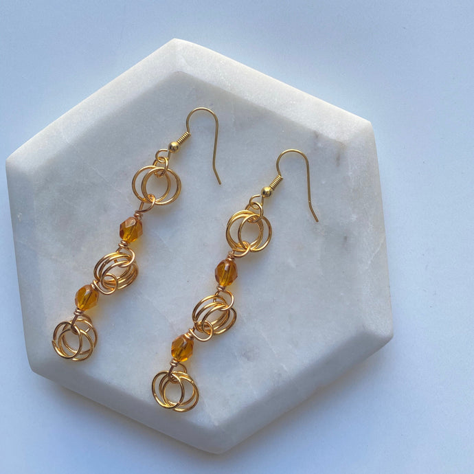 The Kiere Earring in Transparent Honey