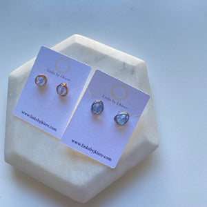 The Morgan Earring in Transparent Ice Blue