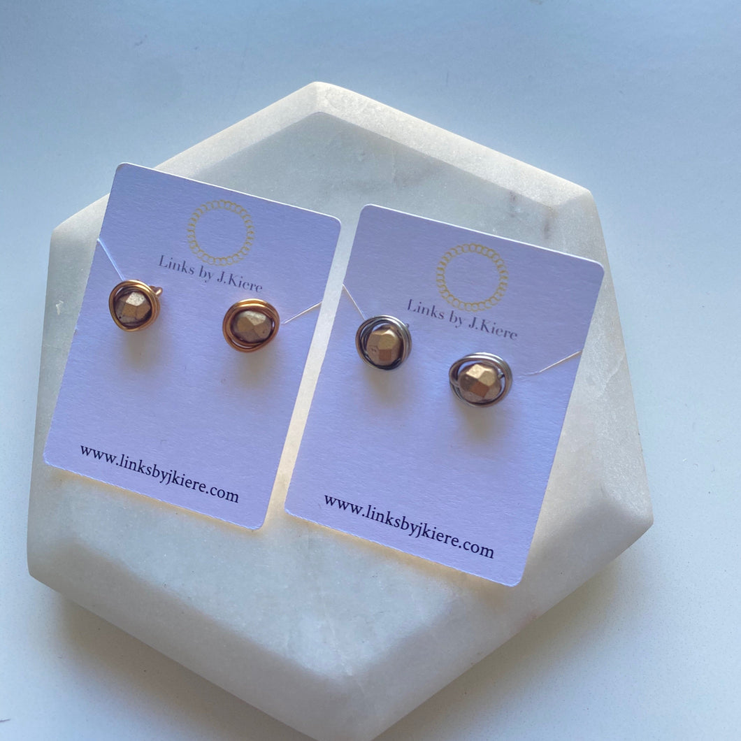 The Morgan Earring in Satin Gold