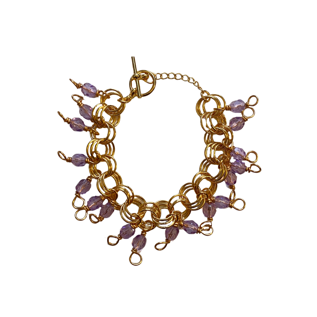 The Donna Bracelet in Translucent Lilac