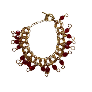 The Donna Bracelet in Translucent Ruby Red