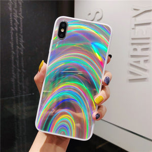 LUXURY SLIK RAINBOW CASE - iPHONE