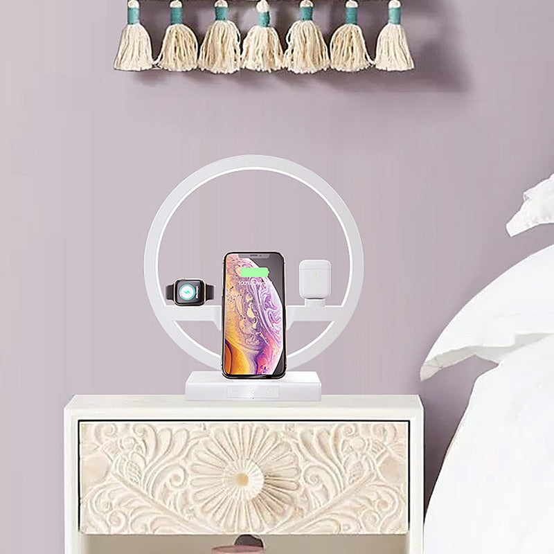 WIRELESS FAST CHARGING STATION - 3 IN 1