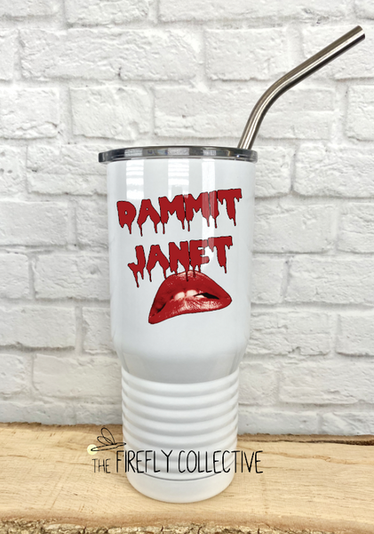Rocky Horror Dammit Janet 20 oz Stainless Steel Core Insulated Tumbler