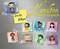 Hamilton Characters Mix & Match Magnets Sublimated