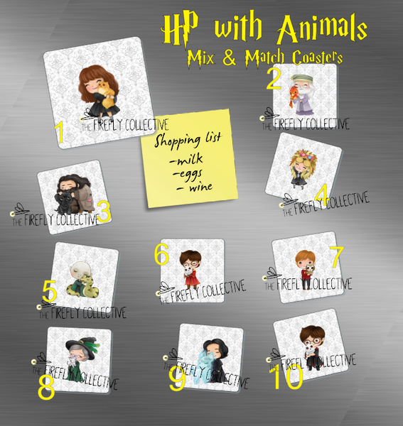 Harry Potter with Animals Magnets