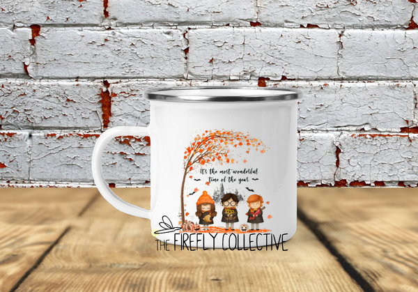 Most Wonderful Time of the Year Harry Potter Characters Camp Mug - Halloween or Fall