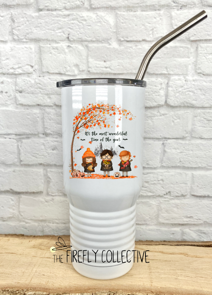 Most Wonderful Time of the Year Harry Potter Halloween Fall 20 oz Stainless Steel Core Insulated Tumbler