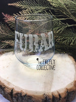 Stemless Wine Glass Custom Laser Engraved with Your Logo, Name,  Monogram or other Graphic - Wedding Gift, Renewals, Bachelorette Party