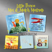 Little Prince Mix & Match Magnets Make Your Own Set Fox, Pilot, Flying Doves, King, Eyes are Blind, All Grown-Ups were Once Children, Secret