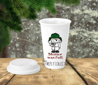 Shitter Was Full Christmas Vacation Inspired 11oz Mug Dishwasher & Microwave Safe Sustainable Ceramic Tumbler Travel Coffee