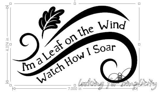 I'm a Leaf on the Wind Watch How I Soar -  Firefly/Serenity Quote Decal /Sticker