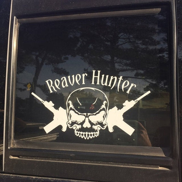 Reaver Hunter Decal /Sticker inspired by Firefly/Serenity  for windshield, laptop or other non-painted surface