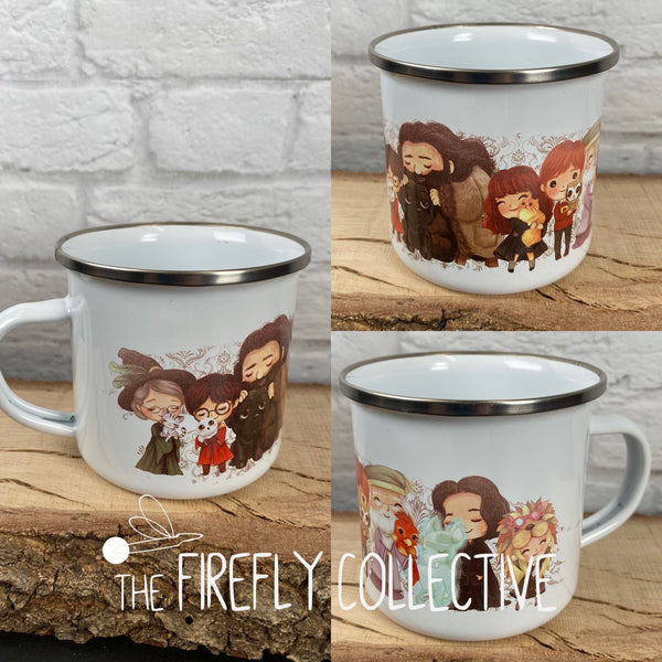 Harry Potter Characters with Animals Lineup Camp Mug Sublimated