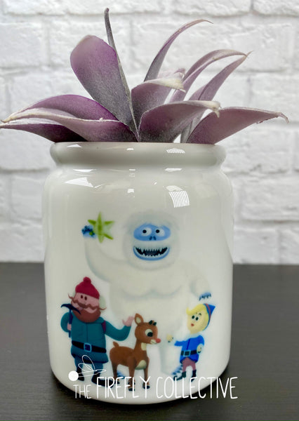 Misfit Toys Ceramic Sublimated Treat Jar with Cork Lid