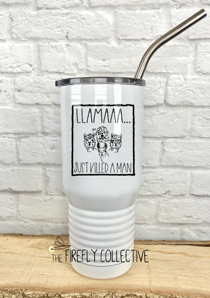 Llama Just Killed a Man Inspired by Queen 20 oz Stainless Steel Core Insulated Tumbler