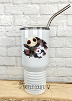 Jack & Zero Nightmare Before Christmas 20 oz Stainless Steel Core Insulated Tumbler