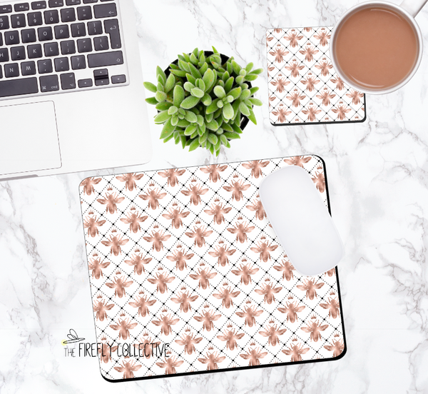 Rose Gold Queen Bee Mouse Pad